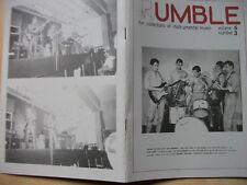 RUMBLE INSTRUMENTAL MUSIC MAGAZINE VOL5 No3 Ventures,Shadows,Surf,Spotnicks,Dale