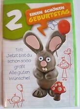 2 Jahre 2 ter zum zweiter Geburtstag Hase Glückwunschkarte Grußkarte Karte OVP