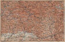 Bayrischerwald. Foresta Bavarese CHAM Passau Böhmerwald Karte. BAEDEKER 1902 carta