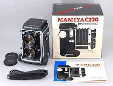 Super Rare MINT IN BOX Mamiya C220 TLR  w/ 80 mm f2.8 Blue Dot From Japan