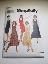 Simplicity 8604, MISSES, MISS PETITE JUMPER , SKIRT, VTG 1993, SIZE18-22 UNCUT