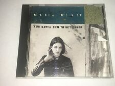 Maria McKee CD You Gotta Sin To Get Saved Geffen Records 1993 USED CUTOUT