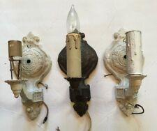 3 VINTAGE CAST ALUMINUM WALL SCONCES ART DECO LIGHT FIXTURE CHANDELIER CEILING