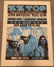 Zz Top 2019 Show Poster Dos Equis Pavilion Dallas Texas 50Th Anniversary 18�x24�
