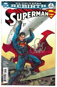 Superman 2 Kenneth Rocafort Variant Signed Pat Gleason Autographed DC