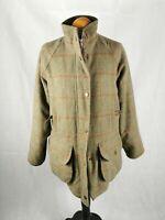 Ladies TOGGI HERITAGE Tweed Coat Size 12 Green Shooting Country Scottish Made