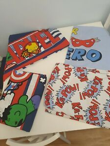 Marvel Spiderman heros Reversible Single Duvet Cover And Pillowcase Set x 2