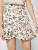 Witchery paisley floral wrap ruffle mini skirt, excellent condition, 8 FREE POST
