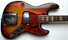 Vintage 1970 Fender American Jazz Bass Guitar Rare 3-Color Sunburst w/OHSC