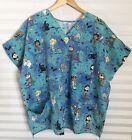 Fashion Scrubs Womens Halloween Scrub Trick or Treat Plus Size 2/3XL ????