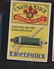 Ancienne étiquettes allumettes  Belgique  BN6318 Publicité Aspirateur Electrolux