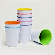 Barel Retro Melamine Cups 275mL Set of 8 Bright Colours Picnic, Barbecue, Cafe