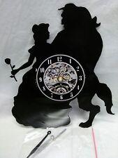 """Vinyl Cut LP Record Wall Clock The Beauty and Beast Classic Clocks Disney 11"""""""