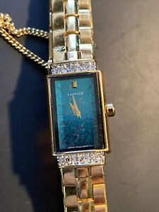 Vintage seiko lassale ladies watch W/ 6 Verified diamonds!!  Running Fine!