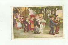 138141 bella cartolina illustrata A. BERTIGLIA  matrimonio