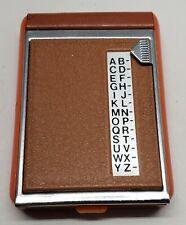 VINTAGE MINIATURE 1960's-70's ADDRESS/ PHONE BOOK MID CENTURY ORANGE NEVER USED