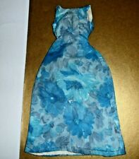 """Clone doll clothes 12"""" Fashion doll Blue Print Floral Dress fit Tammy size 1950s"""