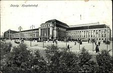Feldpostkarte 1917 mit Stempel Leipzig Feldpost gelaufen an Bauzug 983 im Osten