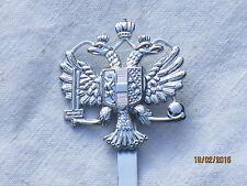 1st Queens Dragoon Guards, barettabzeichen, 1st qdg, Maker: londres Badge & Button