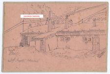 K.u.k. Postkarte,Zeichnung,Dolomiten,Italien,kuk postcard,hand drawing,dolomiti