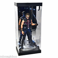 """Acrylic Display Case LED Light Box for 12"""" 1/6th Scale Avengers HAWKEYE Figure"""
