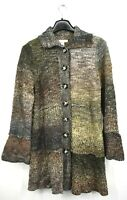 Christopher & Banks Womens Multicolor Cardigan Sweater Button Front Closure L