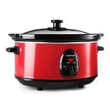 Klarstein Schongarer Slow Cooker Keramik-Topf Kochen Küche 3,5 L 200 W rot