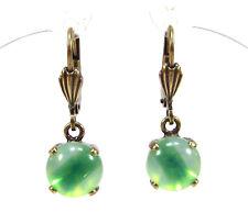 SoHo® Ohrhänger Ohrringe bohemia Glas bronze sabrina grün 1960s handmade