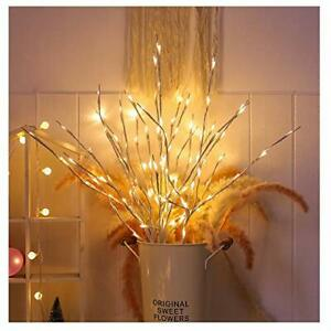 Branch Lights 4 Pack Lighted White Willow Twig Lighted Branch Battery Powered