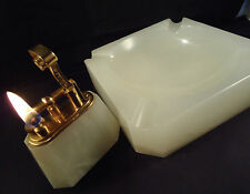 Dunhill ONYX Petrol Table Lighter & Matching Ashtray