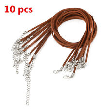 Black Brown 10pcs Necklace Suede Leather String Cord Jewelry Cool Making DIY