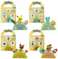 TOMY Pokemon Pita Poke Figure Ages 4+ Toy Play Flareon Pikachu Cubchoo Eevee Fun