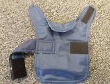 Size XXS Waterproof dog coat. Navy with blue check fleece inner.