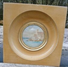Miniature watercolour gouache painting raoul delisse Antibes 1927 painting painting
