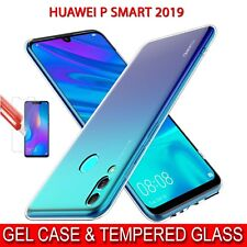 Case for Huawei P Smart 2019 Shockproof Clear Gel Cover & Glass Screen Protector