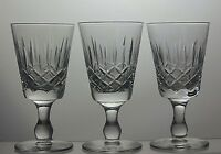 Edinburgh Crystal 'Appin' Cut Glass Sherry Glasses set of 3