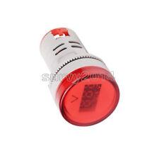 22mm Ac60 500v Led Voltmeter Voltage Meter Indicator Pilot Light New Diy Red