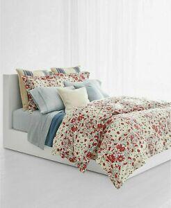 New Ralph Lauren KELSEY 3 full queen Comforter set red paisley floral bohemian