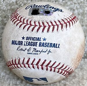 Albert Pujols in St. Louis Cardinals Game Used Baseball - Mike Trout / Skaggs W