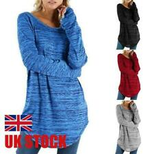 Plus Size Womens Blouse Long Sleeve T Shirt Ladies Casual Tunic Shirt Tops