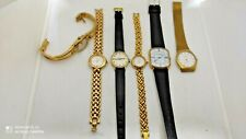 LOT 6 Watches for womens.Watch for parts.Gold plated.JEAN HERBER,BERING,FOSSIL