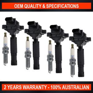 Swan Ignition Coil & NGK Spark Plug Pack for Mercedes Benz SLK200 250 Kompressor