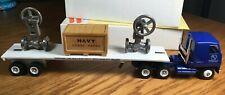 Winross Mack MH600 PJV - Navy Tractor/Flatbed Trailer 1/64