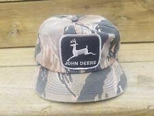 Vintage John Deere Large Patch Snapback Trucker Hat K Products Camo