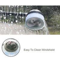 Water Pressure Car Wash Brush Dust Spray Rotating Flush Cleaning Tool Hose Van