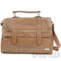 Ladies / Womens Leather Shoulder Bag / Small Satchel with Top Carrying Handle