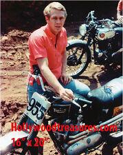 "Steve McQueen~Triumph~Motorcycle~Photo~Poster~16"" x  20"""