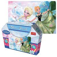 Trefl 100 Pièces Glam à Paillettes Filles Anna et Elsa la Reine des Neiges