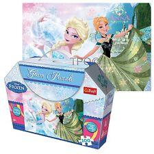 Trefl 100 pièces glam glitter filles anna et elsa frozen jigsaw puzzle coffret cadeau