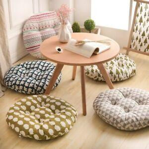 Round Shape 2 Size Seat Cushion Silk Cotton Core Cotton Polyester Tatami